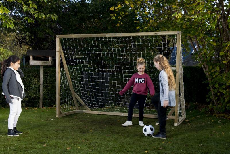 Stort fodboldmål til haven (200x300 cm)