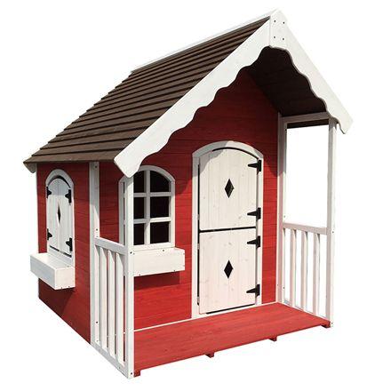 Fint Nordic Play legehus i rød og hvid